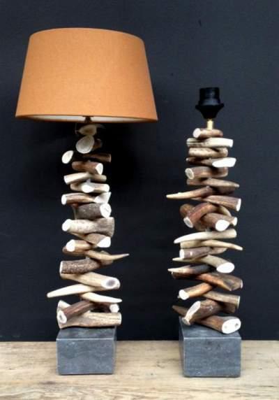 Tischlampe Geweih Alpenstil Living Lifestyle